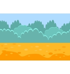 Seamless horizontal landscape for a game bushes vector