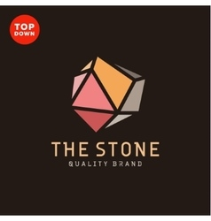 Flat minimalist colored stone design vector