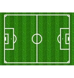 European football soccer field vector