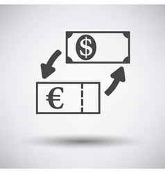 Currency dollar and euro exchange icon vector