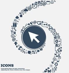 Arrow cursor computer mouse icon sign in the vector
