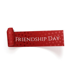 Friendship day realistic red festive tag vector