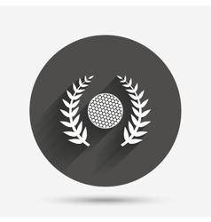 Golf ball sign icon sport symbol vector