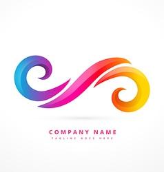 abstract company logo template design vector image vector image