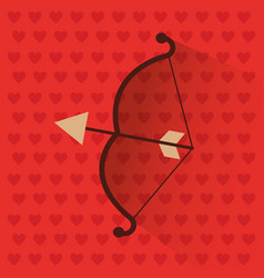 bow and arrow love romantic symbol vector image