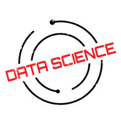 data science rubber stamp vector image