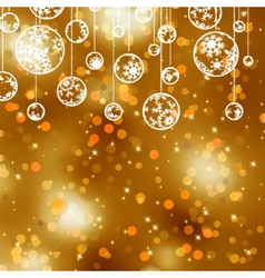 Elegant gold christmas background eps 8 vector