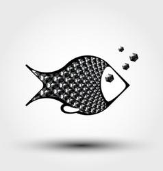 Fish abstract pattern vector