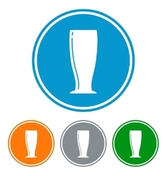 Flat pilsner glass for beer vector image vector image