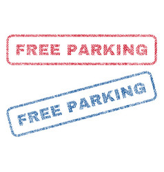 free parking textile stamps vector image vector image