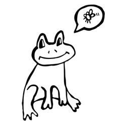Frog doodle vector