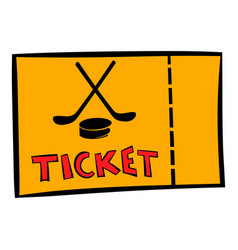 Hockey tickets icon icon cartoon vector
