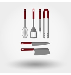 Kitchen tools icons vector image