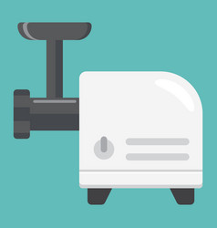 Meat grinder flat icon household appliance vector
