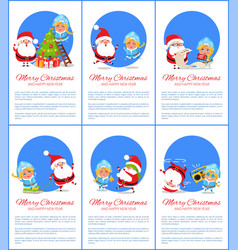merry christmas snow maiden vector image vector image