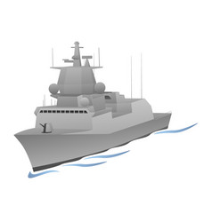 Naval warship graphic vector