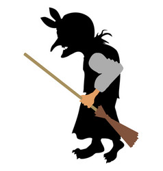 old witch vector image