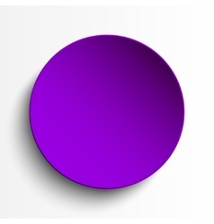 Purple circle empty banner on white background vector