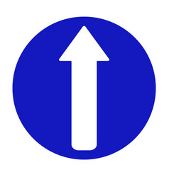 road sign arrow go straight vector image vector image