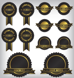 Sale badges and labels vector image