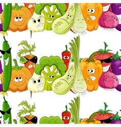 seamless funny vegetable background vector image vector image
