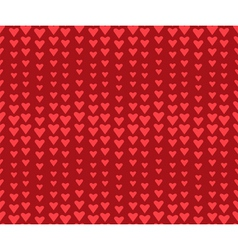 Seamless wavy red holiday pattern with hearts vector