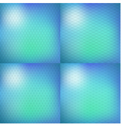 set of four blurry background vector image