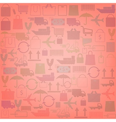 shopping icons background vector image vector image