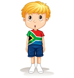 South african boy standing straight vector