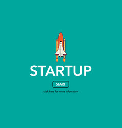 Start up business web concept vector