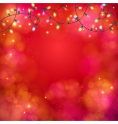 Vibrant party background with a garland of lights vector