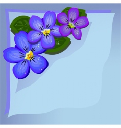 violets background vector image vector image