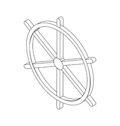 Wheel dharma icon isometric 3d vector