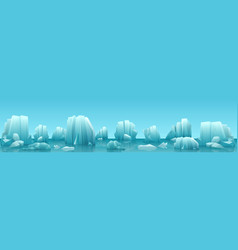 wide web banner of arctic vector image vector image