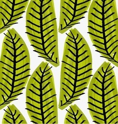Artistic color brushed green leaves vector