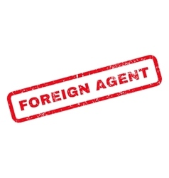 Foreign agent text rubber stamp vector