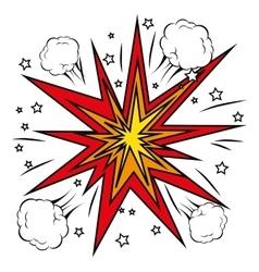 Boom comic pop art vector