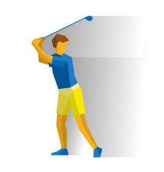 Golf golfer with club isolated on white vector