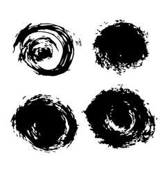 Black blobs vector