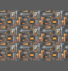 seamless pattern of repair and construction vector image