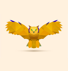Flying owl vector