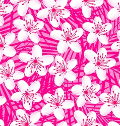 Small white tropical frangipani seamless pattern vector