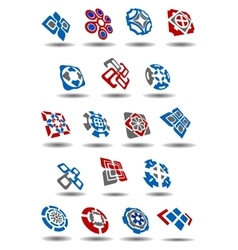Abstract geometric icons and symbols set vector