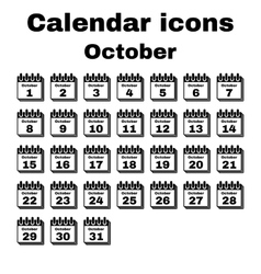 The calendar icon october symbol flat vector