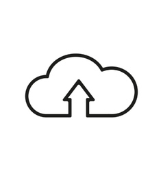 The upload to cloud icon download symbol flat vector