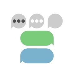 Text messages bubbles vector