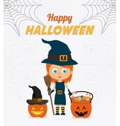 Happy halloween festival party vector image