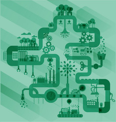Ecology factory industry sustainable vector