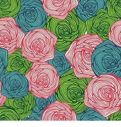 seamless background with beautiful flowers vector image