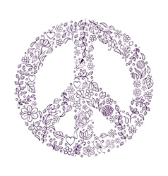 Peace symbol on white background vector